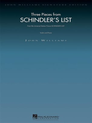 John Williams - 3 Pieces - Schindler's List - Partition - di-arezzo.co.uk