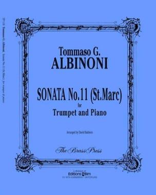 Sonata N° 11 St Marc ALBINONI Partition Trompette - laflutedepan