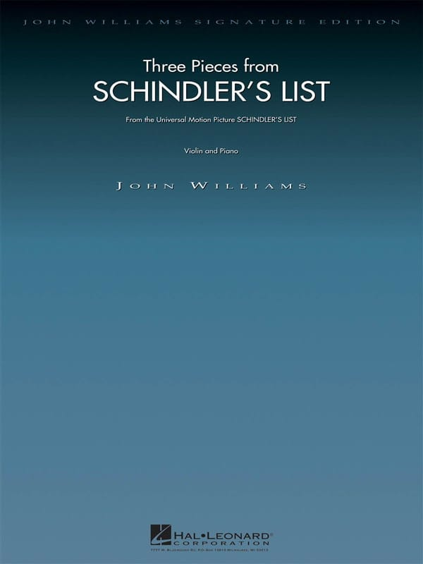 3 Pieces - Schindler's List - John Williams - laflutedepan.com