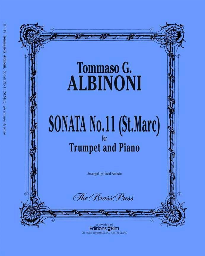 Sonata N° 11 St Marc - ALBINONI - Partition - laflutedepan.com