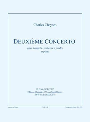 Charles Chaynes - Second Concerto - Partition - di-arezzo.co.uk