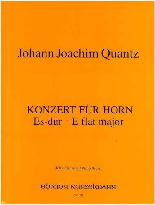 Konzert Für Horn Es-Dur - QUANTZ - Partition - Cor - laflutedepan.com