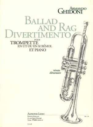 Ballad And Rag Divertimento Armando Ghidoni Partition laflutedepan