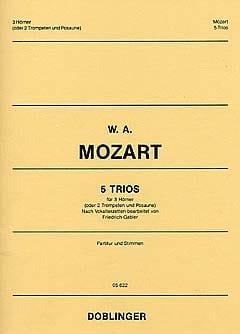5 Trios MOZART Partition Cor - laflutedepan