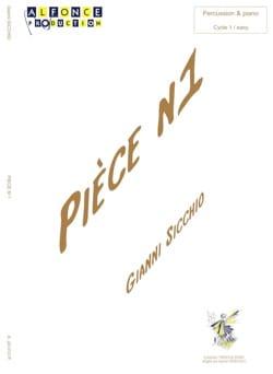 Pièce N° 1 Gianni Sicchio Partition Multi Percussions - laflutedepan