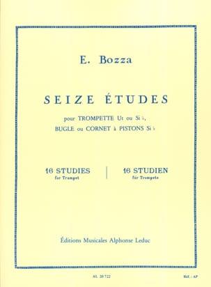 16 Etudes Eugène Bozza Partition Trompette - laflutedepan