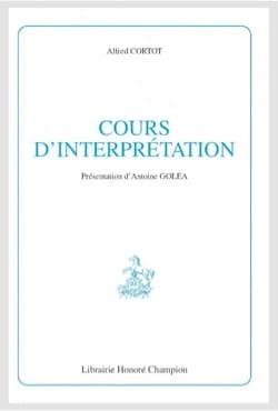 Cours d'interprétation Alfred CORTOT Livre Les Hommes - laflutedepan