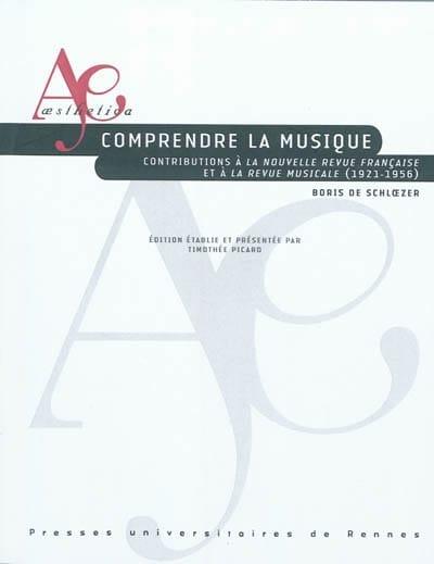 Comprendre la musique - SCHLOEZER Boris de - Livre - laflutedepan.com