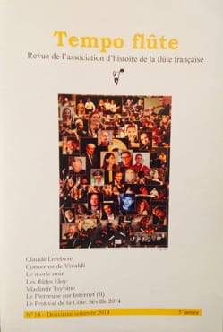 Tempo flûte n° 10 (2e semestre 2014) Revue Livre laflutedepan