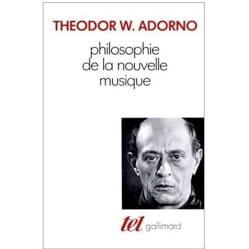 Philosophie de la nouvelle musique Theodor ADORNO Livre laflutedepan