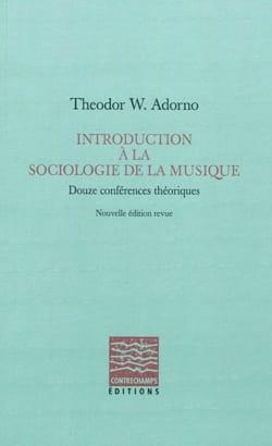 Introduction à la sociologie de la musique : douze conférences théoriques laflutedepan