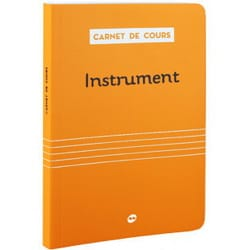 Carnet de cours - CARNET DE COURS : INSTRUMENT - Livre - di-arezzo.fr