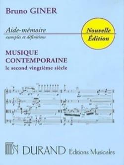 Aide-mémoire musique contemporaine Bruno GINER Livre laflutedepan