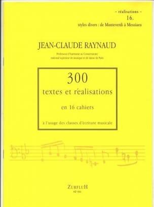 300 Textes et réalisations cahier 16 (réalisations): styles divers de Monteverdi laflutedepan