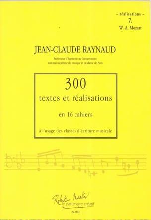300 Textes et Realisations Cahier 7 (Réalisations): Mozart laflutedepan