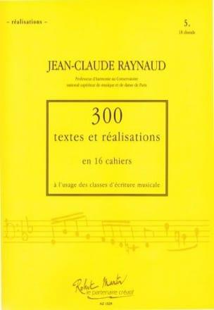 300 textes et réalisations, cahier 5 (réalisations): 18 chorals laflutedepan
