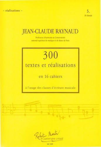 300 textes et réalisations, cahier 5 (réalisations): 18 chorals - laflutedepan.com