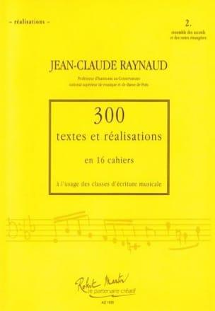 300 Textes et Realisations Cahier 2(réalisations):ensemble des accords et notes laflutedepan