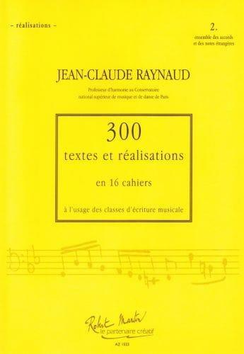 300 Textes et Realisations Cahier 2(réalisations):ensemble des accords et notes - laflutedepan.com