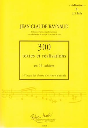 300 Textes et Realisations Cahier 6 (réalisations): JS Bach laflutedepan