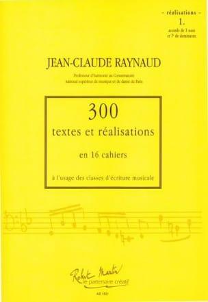 300 Textes et Realisations Cahier 1(réalisations): accords de 3 sons et 7e de do laflutedepan
