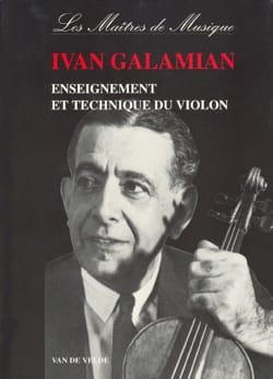 Enseignement et technique du violon Ivan GALAMIAN Livre laflutedepan