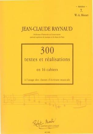 300 Textes et Realisations Cahier 7 (textes): Mozart laflutedepan