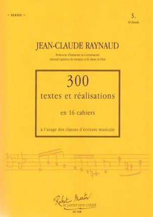 300 Textes et Realisations Cahier 5 (Textes): 18 chorals laflutedepan