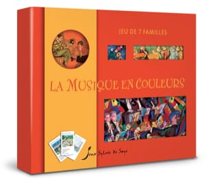 Jeu des 7 familles : la musique en couleurs Jeu Livre laflutedepan