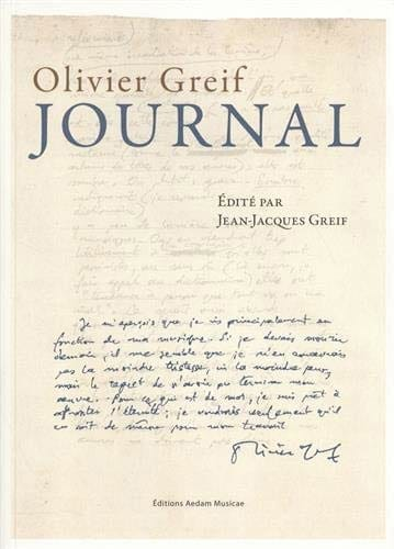 Journal - Olivier GREIF - Livre - Les Hommes - laflutedepan.com