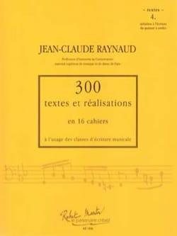 300 textes et réalisations, cahier 4 (textes) laflutedepan