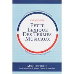 Petit lexique des termes PINCHERLE Livre Dictionnaires - laflutedepan