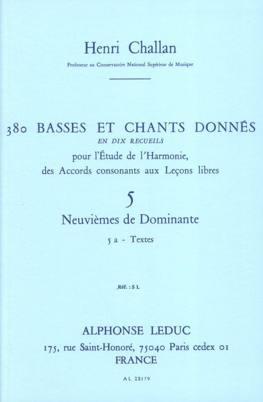 380 BASSES ET CHANTS DONNES, vol 5A: textes - laflutedepan.com
