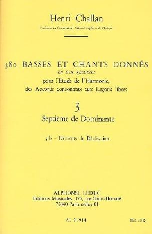 380 basses et chants donnés, vol. 3B : Septième de dominante laflutedepan