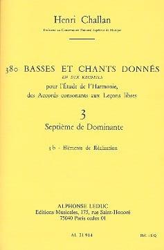 380 basses et chants donnés, vol. 3B : Septième de dominante - laflutedepan.com