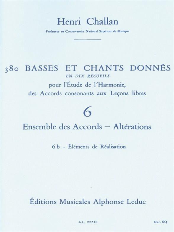 380 BASSES ET CHANTS DONNES, vol 6B: réalisations - laflutedepan.com