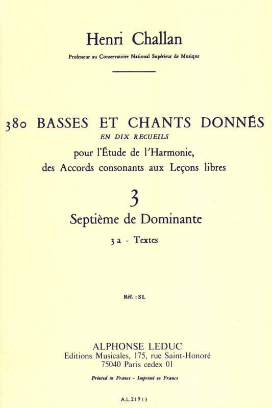 380 BASSES ET CHANTS DONNES, vol 3A: textes - laflutedepan.com
