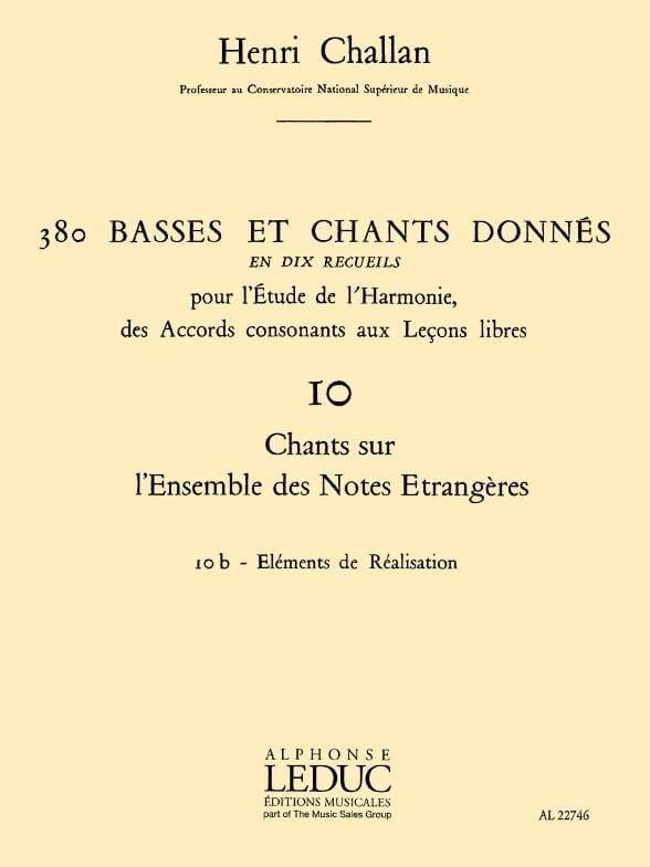 380 BASSES ET CHANTS DONNES, vol 10B: réalisations - laflutedepan.com