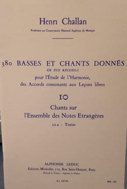 380 BASSES ET CHANTS DONNES, vol 10A: textes laflutedepan