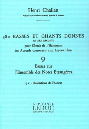 380 Basses et chants donnés - 9c - réalisations de l'auteur. laflutedepan
