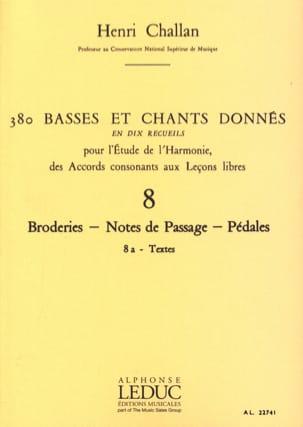 380 Basses et chants donnés - 8a - Textes Henri CHALLAN laflutedepan