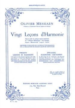 20 Leçons d'Harmonie MESSIAEN Livre Harmonie - laflutedepan