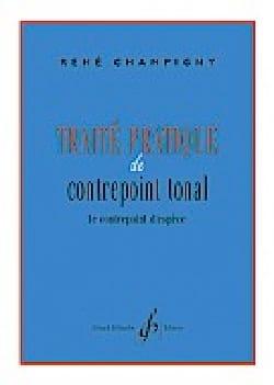 Traité pratique de contrepoint tonal René CHAMPIGNY Livre laflutedepan