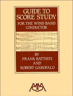 Guide to score study for the wind band conductor (Livre en anglais) laflutedepan