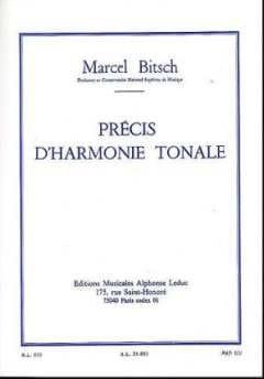 Précis d'harmonie tonale - Marcel BITSCH - Livre - laflutedepan.com