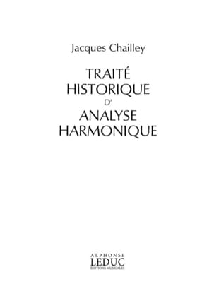 Traité historique d'analyse harmonique Jacques CHAILLEY laflutedepan