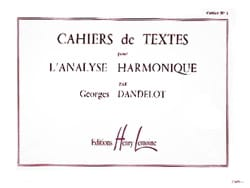 Cahiers de textes pour l'analyse harmonique, volume 1 laflutedepan