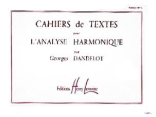 Cahiers de textes pour l'analyse harmonique, volume 1 - laflutedepan.com