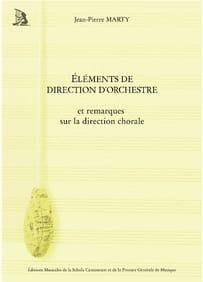 Éléments de direction d'orchestre MARTY Jean-Pierre laflutedepan