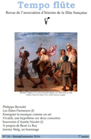 Tempo Flute n° 14 Second semestre 2016 - Revue - laflutedepan.com